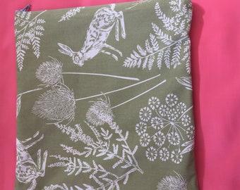Sage Rabbit Print Cushion Cover