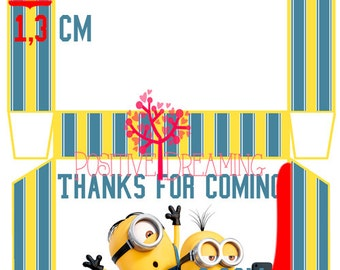 Minions Printable box, INSTANT DOWNLOAD, Minions Party box, Favor Box, Candy box, Party deco, Party favor, Minions printables