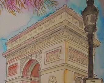 Arc de Triomphe - Druck von meinem original-Gemälde