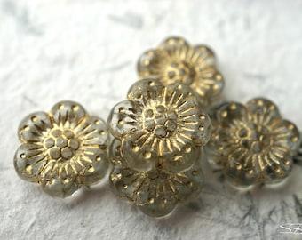 Antique Flowers, Flower Beads, Czech Beads, Beads, N2143