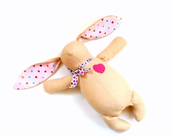Easter bunny rabbit, floppy eared bunny, Fabric bunny rabbit, soft bunny gift for children