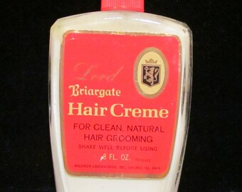 1950s Vintage Lord Briargate Hair Creme Unused Full Bottle Mint Condition