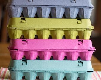 10 Full Dozen Windowed Egg Cartons Pink - Blue - Lime Green - Teal - Multicolored