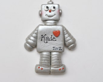 Robot Christmas  Ornament / personalized/Mechanical /Children's ornament/Tin man