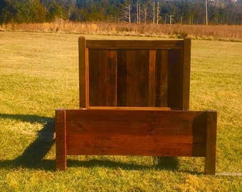 Ready to Ship! Free Shipping!  Queen Cabin Comfort Solid Reclaimed Oak Bed Frame