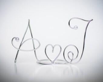Monogram Wire Wedding Cake Topper