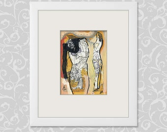 Abstract drawing, abstract paintings, figurative art, figurative pictures