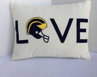 U of M Love Pillow