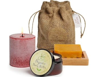 Jensan 4-piece Spa Gift Set in  Bag Set in recyclable burlap bag - Free Shipping