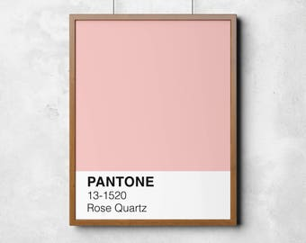 Pantone Print, printable art, rose quartz, blush print, colour swatch, printable poster, wall art, printable art, digital prints, home print