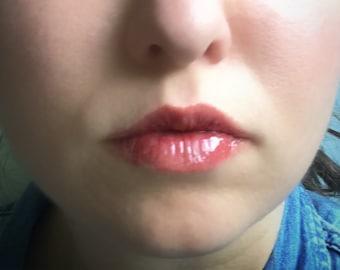 Tinted Lip Balm, Dark Cherry, Moisturizing lip balm, lip tint, Red shimmer lip balm, Red lip balm,  lip moisture, Healing lip balm