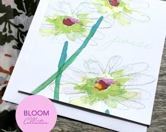 Poise Art Card - Bloom Collection (Greeting Card)