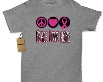 Peace Love Hope Womens T-shirt
