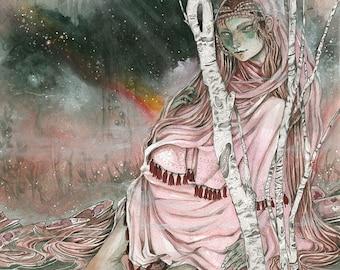 Morgan le Fay - Faery / Fantasy Painting Art Print