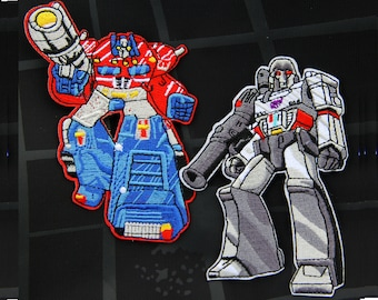 2pcs Megatron Optimus Prime transformers Apparel Movie Hat patches Embroidered Iron on sew on patches