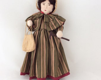 Mary Anning fossil collector, fossil lady, Dorset character doll, famous women, historical doll, famous Dorset characters, Lyme Regis, ooak