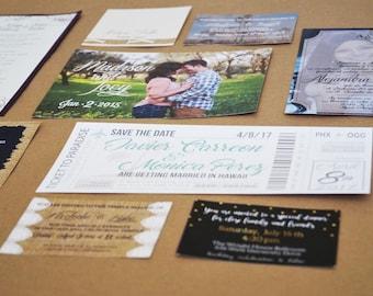 Custom Wedding Invitations or Save the Dates