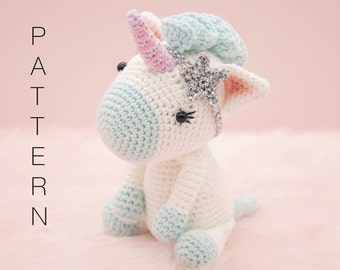 Amigurumi crochet cute unicorn pattern - Aurora the unicorn PATTERN ONLY (English)