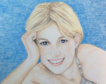 Colored Pencil drawing of Princess Diana