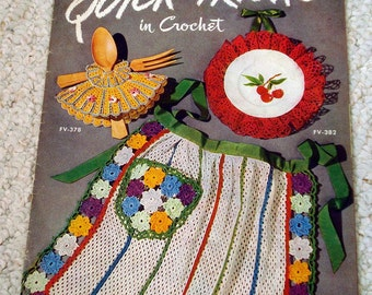 Quick Tricks in Crochet, Accessories for home and family, Vintage patterns Book No. 267