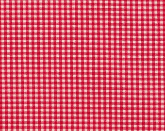 "24"" Curtain Tailored Tiers, Cherry Red Gingham, Lined"