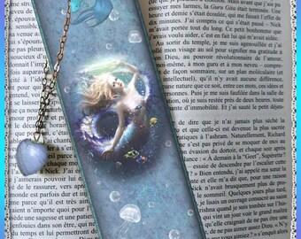 "Laminated bookmarks ""Blue girl"""
