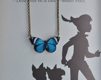 Necklace Bright Blue Butterfly