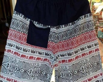 03 Cotton trousers (white / black)