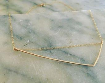Paper Bird Studio, Dainty gold necklace, Delicate necklace, Gold necklace, Minimalist necklace, Necklace, Dainty gold necklace, everyday