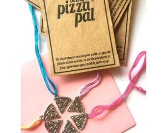 Pizza pals charm wish friendship bracelet