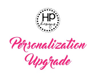 Personalization Upgrade for Shirts | Personalized T-Shirt | Addition | Add On | Upgrade