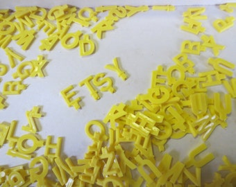 Vintage Word Master Mind Game Letters yellow letters Alphabet Soup of letters! OVER 100