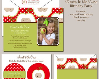 Sweet to the Core Birthday Party Invitation