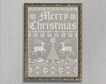 Christmas Town: A Seasonal Sampler - Instant Download PDF Cross Stitch Embroidery Pattern