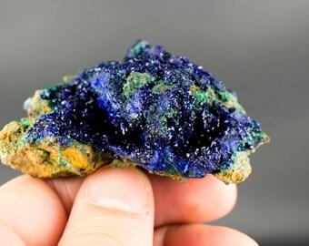 Azurite with Malachite Mineral Specimen