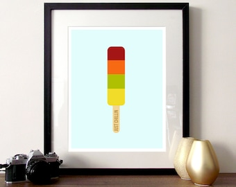 Nursery illustration poster print, ice lolly print, kids ice cream print, nursery quote, nursery print, cute ice cream, ice cream poster,