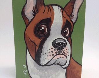 Boxer - Dog Art - Dog Painting - Canine Art - Kids Room Decor - Animal Art - Pet Portrait - Animal Decor