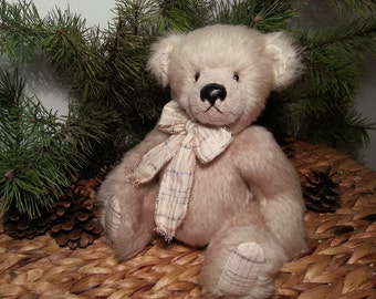Artist teddy bear Andy - 28 cm or 11 inches, Artist mohair bear, OOAK teddy bear, handmade teddy bear, teddy bears for sale