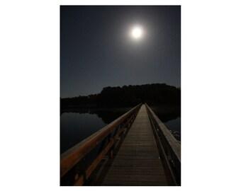 Cape Cod Wall Art - Wellfleet, Cape Cod Photograph of Uncle Tim's Bridge - Moon Bridge