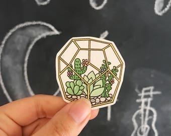 Cactus Succulent Laptop Sticker // Cactus Print // Cactus Plant // Succulent Plant
