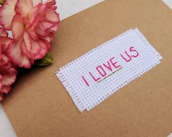 I love us greeting card