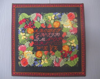 An ABC embroidered cross stitch chart