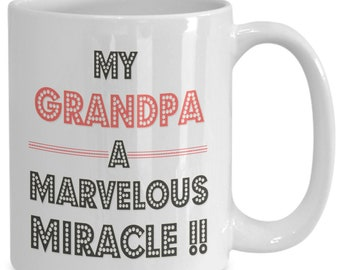 Fathers day, My Grandpa Mug, Grandpa Coffee, Gift Ideas for Funny Grandpa, From Son, From Daughter, From Kids, First Grandpa, Grandpa Gifts