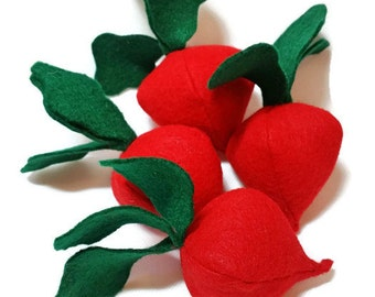 Radish - fresh and felt! eco-friendly felt play foods - washable and durable!