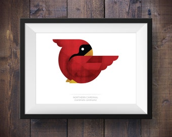 Red Northern Cardinal Print - Signed Canadian Wildlife Series - Canada 150