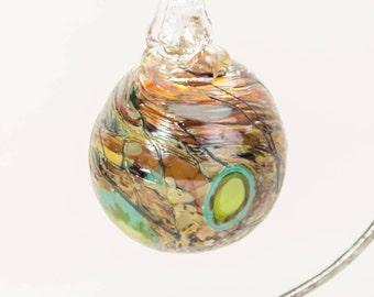 604108 Medium Hand Blown Hanging Art Glass Ball Decorative Ornament