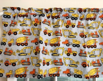 Construction Valance ~ Boys Room ~ 42 Inches WIDE