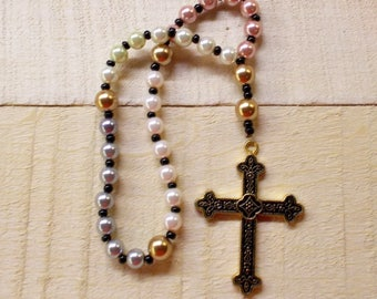 Mixed Faux Pearl Anglican Prayer Beads