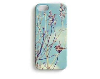 "Smartphone Handy Schützhülle ""FrühlingsBote"" - Handyschale Vogel Vögelchen Baum Frühling Himmel Wolken"