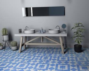 Vinilo azulejos talavera estilo cl sico pegatinas azulejos for Azulejos cadiz